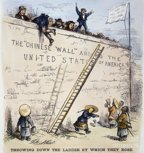 Foreigners Wall Art - Photograph - Immigration Cartoon by Granger