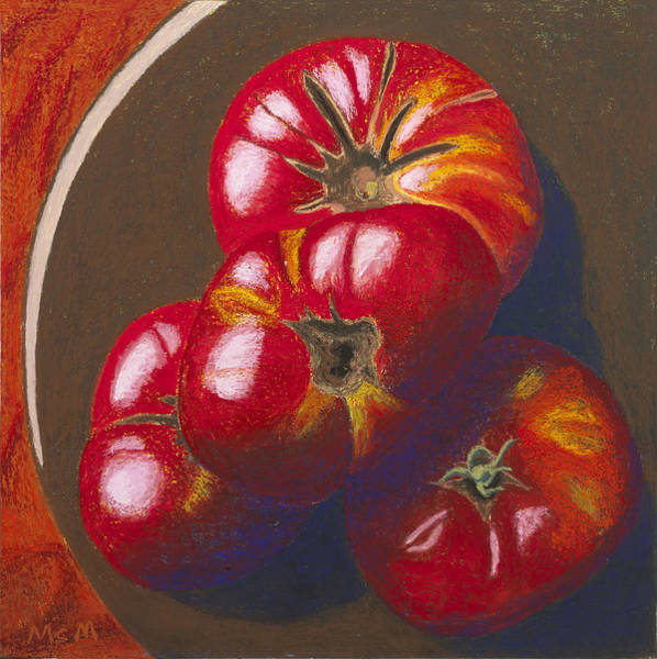 Ugly Painting - In Search Of The Perfect Tomatoes by Garry McMichael