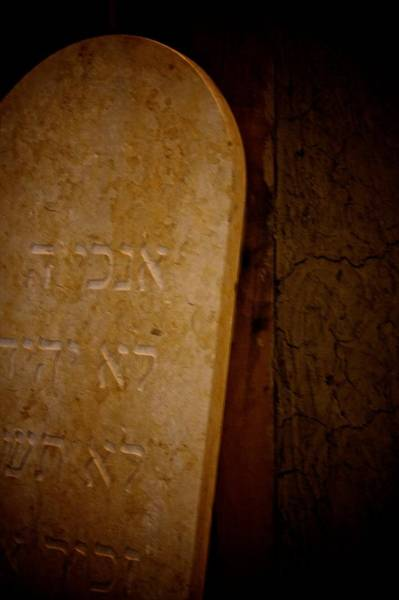 Hebrews Photograph - In Stone by Odd Jeppesen