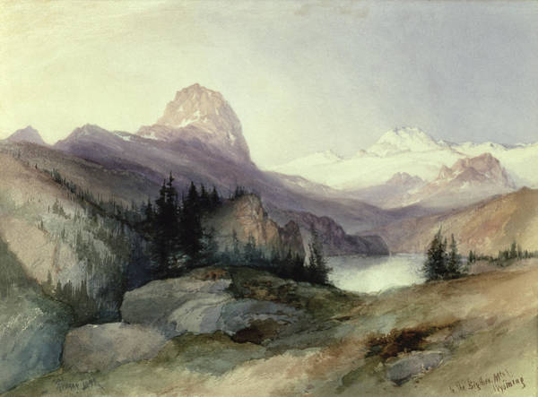 1837 Painting - In The Bighorn Mountains by Thomas Moran