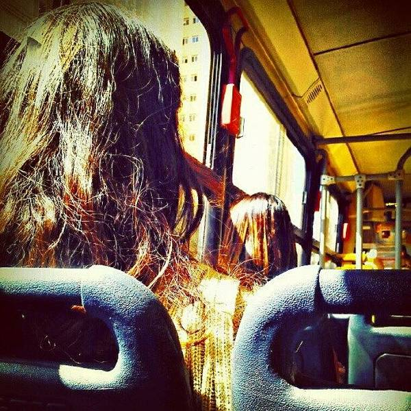 Transport Photograph - In The Bus by Marcelo Donhsa