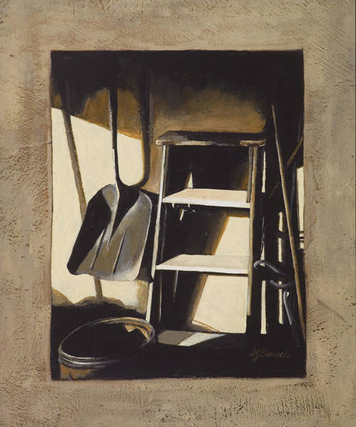 Utilitarian Painting - In The Comfort Of The Familiar by Susan  Brasch