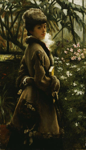 Painting - In The Greenhouse by James Jacques Joseph Tissot