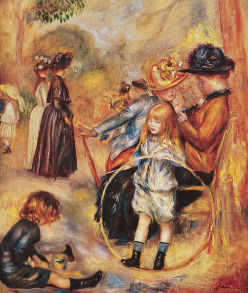 Hoops Painting - In The Luxembourg Gardens by Pierre Auguste Renoir