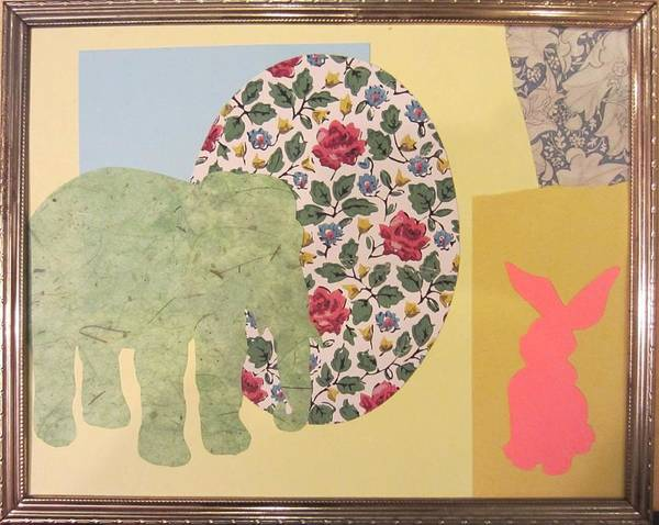 Cut-out Mixed Media - In The Room by Marianne Devine