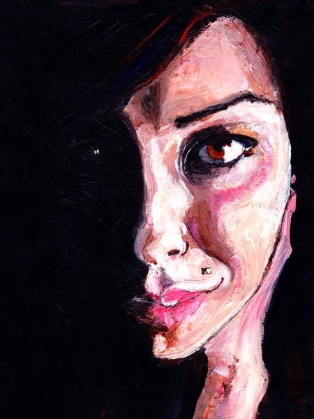 Lip Piercing Wall Art - Painting - In The Shadows by Artistic Photos