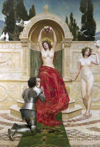 Kneeling Painting - In The Venusburg by John Collier