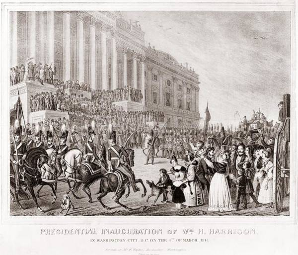 Whig Photograph - Inauguration Of President William by Everett