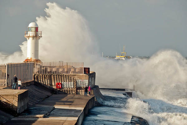 Photograph - Incoming Tide South Gare by Gary Eason