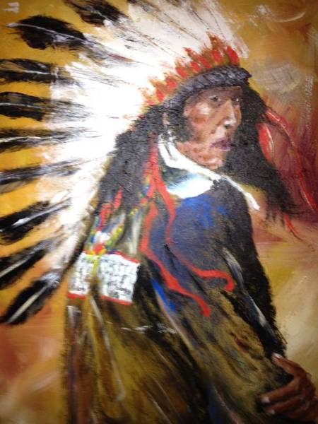 Benny Painting - Indian Chief by Benny Davis