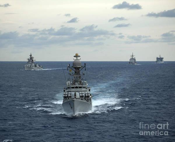 Kora Wall Art - Photograph - Indian Navy Corvette Ship Ins Kulish by Stocktrek Images