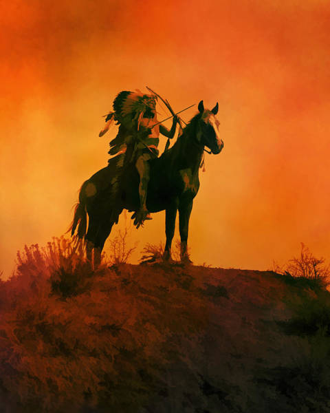Digital Art - Indian Sunset by Rick Wicker