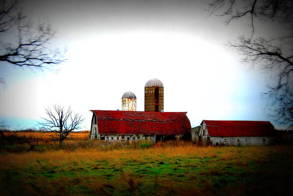 Photograph - Indiana Barns by Lora Mercado