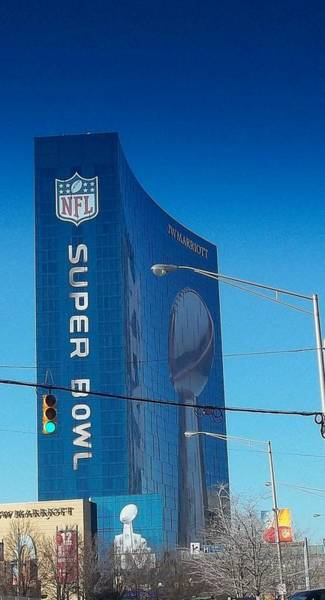 Stephen King Wall Art - Photograph - Indianapolis Marriott Welcomes Super Bowl 46 by Stephen King