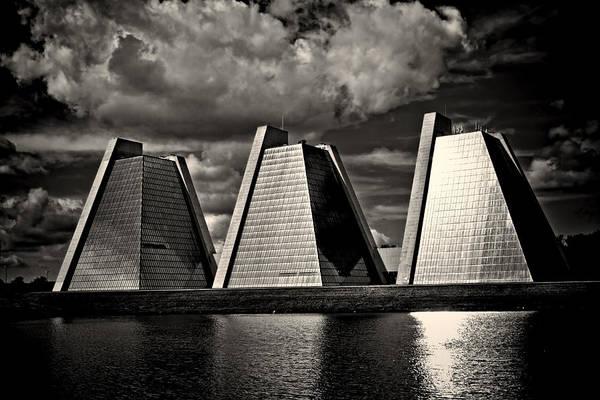 Photograph - Indianapolis Pyramids 2 by David Haskett II