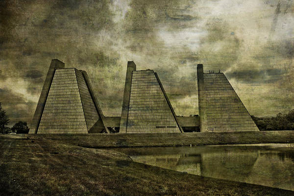 Mixed Media - Indianapolis Pyramids Textured by David Haskett II