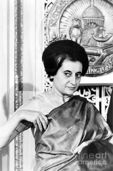 Photograph - Indira Nehru Gandhi by Granger