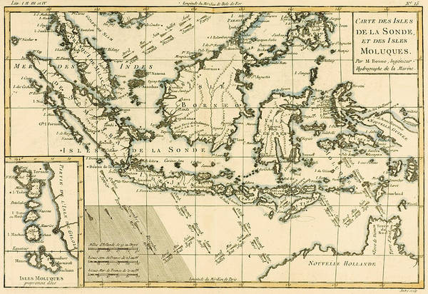 Mapping Drawing - Indonesia And The Philippines by Guillaume Raynal