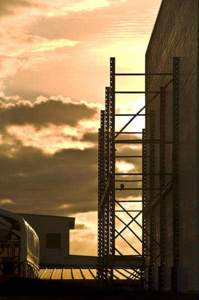 Rungs Wall Art - Photograph - Industrial Sunset by David Cornwell/First Light Pictures, Inc