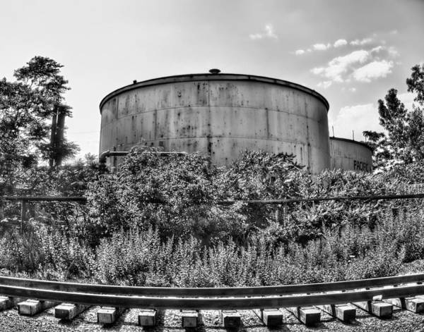Wall Art - Photograph - Industrial Tank In Black And White by Tammy Wetzel