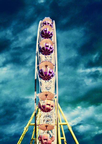 Wall Art - Photograph - infrared Ferris wheel by Stelios Kleanthous