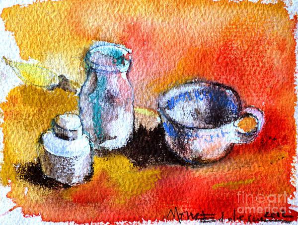 Still Life Mixed Media - Ink Painting Tools by Mona Edulesco