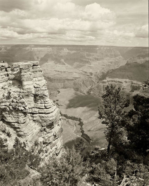 Photograph - Inside The Grand Canyon In Monocrome by M K Miller
