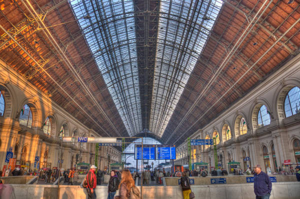 Photograph - Inside The Train Station Hdr by Matthew Bamberg