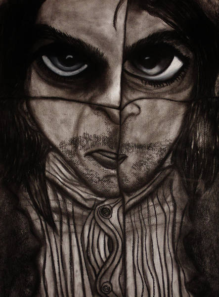 Dark Pink Drawing - Insomnia 2 - Part 2 by Airybot