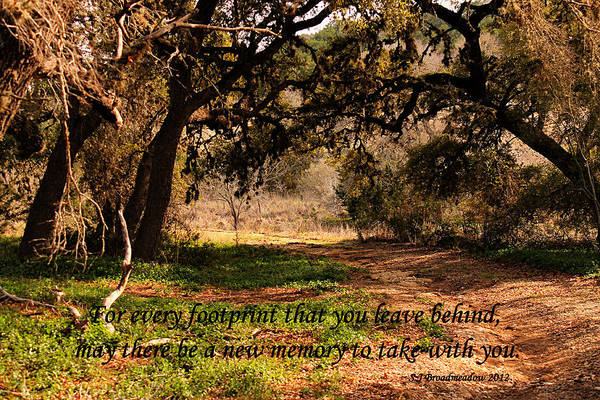 Photograph - Inspirational Quote Footprint by Sarah Broadmeadow-Thomas