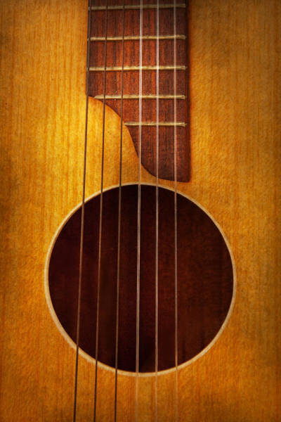 Photograph - Instrument - Guitar - Let's Play Some Music  by Mike Savad