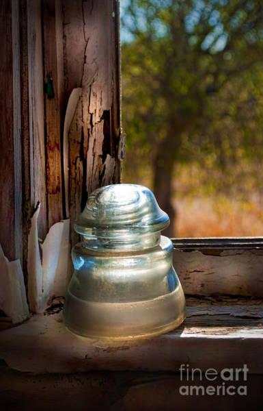 Glass Insulator Photograph - Insulator On Window Sill by Norma Warden