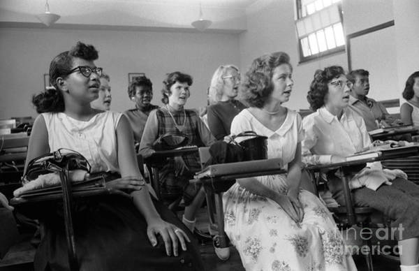 Photograph - Integrated Classroom, 1957 by Granger