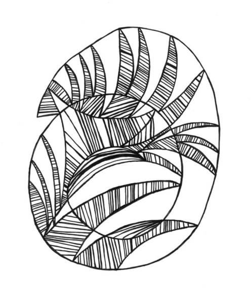 Wall Art - Drawing - Interfered Spiral by John Ricker