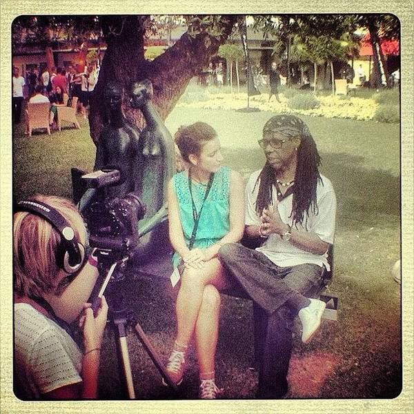 Wall Art - Photograph - Interviewing Nile Rodgers At The Ims by Pete Madigan