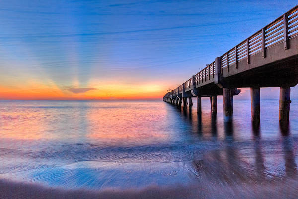 Hobe Sound Photograph - Into The Blue by Debra and Dave Vanderlaan
