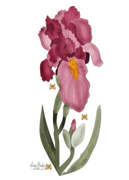 Wall Art - Painting - Iris II In Full Color by Anne Norskog