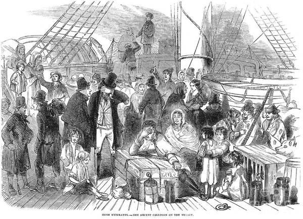 Photograph - Irish Immigrants, 1846 by Granger