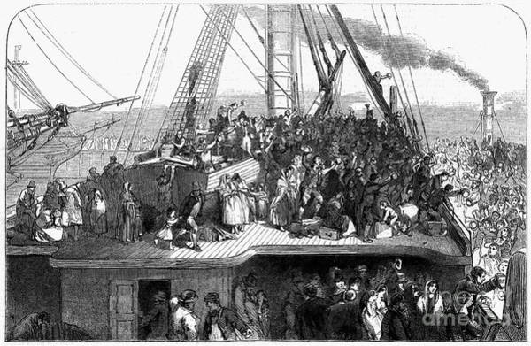 Photograph - Irish Immigrants Ship, 1850 by Granger