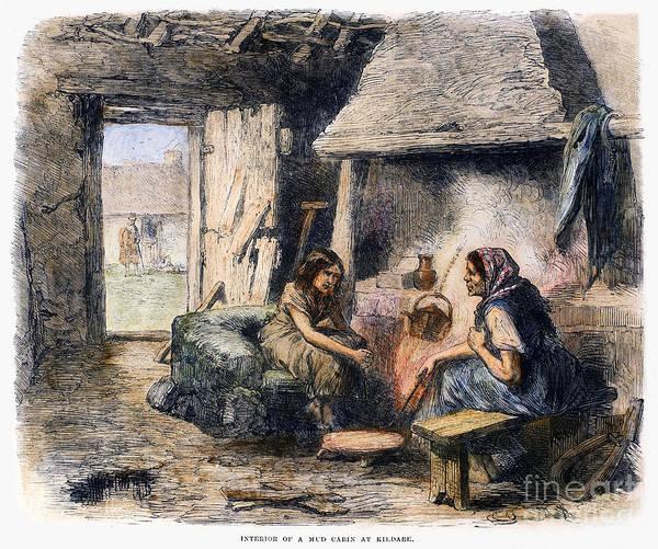 Photograph - Irish Peasant Cabin, 1870 by Granger