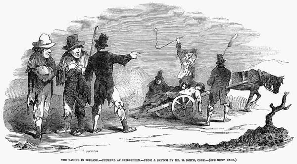 Photograph - Irish Potato Famine, 1847 by Granger