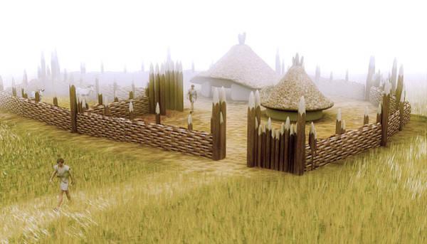 Wall Art - Photograph - Iron Age Village by Christian Darkin