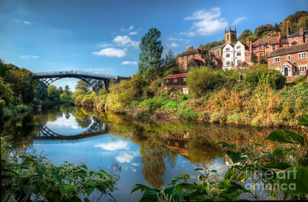 Riverside Photograph - Iron Bridge 1779 by Adrian Evans