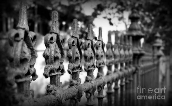 Fleur De Lis Photograph - Iron Fence 2 by Perry Webster