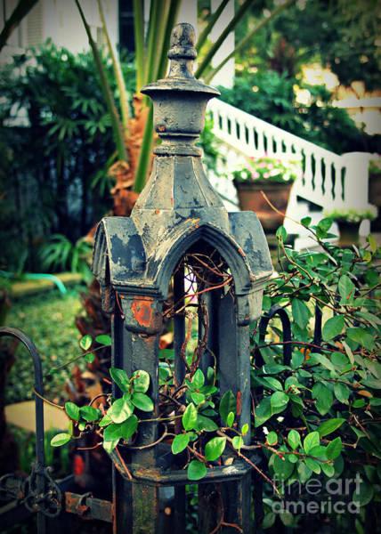Fleur De Lis Photograph - Iron Fence Detail by Perry Webster
