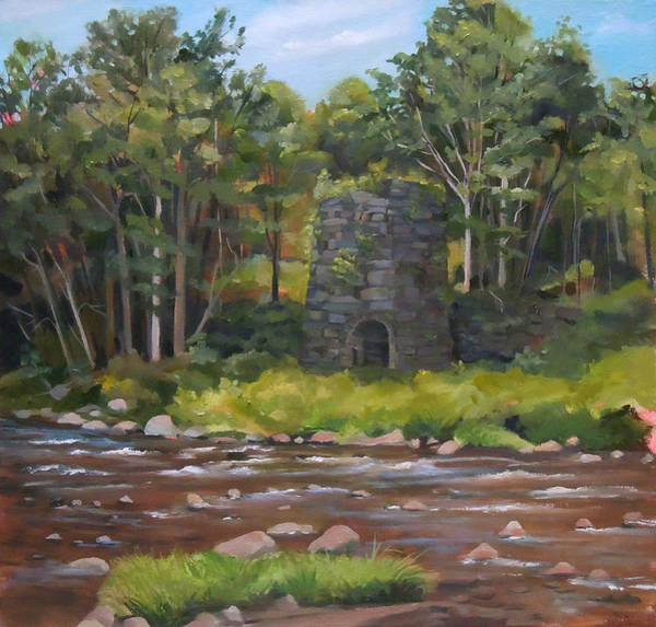 Iron Furnace Of Franconia New Hampshire Art Print
