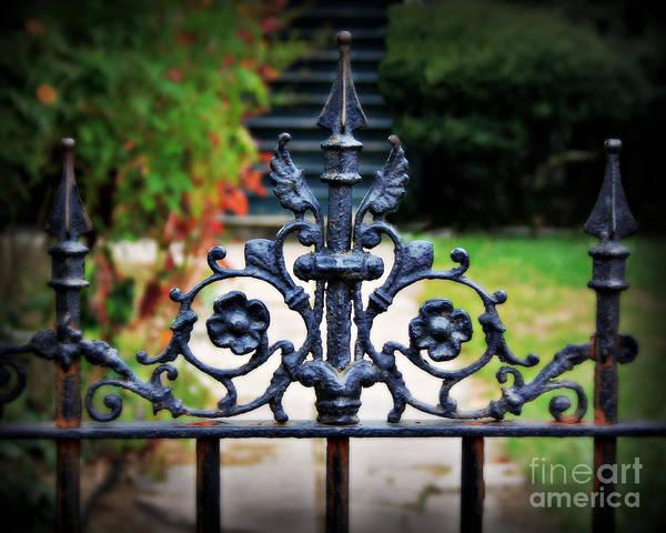 Fleur De Lis Photograph - Iron Gate by Perry Webster