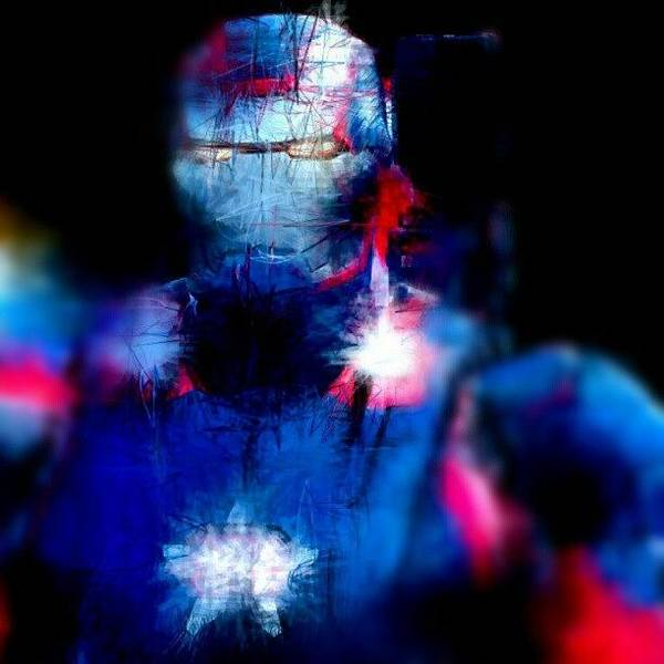 Brush Stroke Wall Art - Photograph - #ironman In #red #white #blue #patriot by Antonio DeFeo