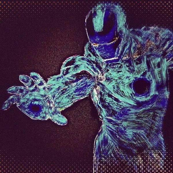 Brush Stroke Wall Art - Photograph - #ironman #remix #heatmap #filter After by Antonio DeFeo
