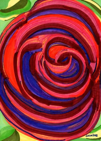Painting - Is A Rose by Lesa Weller